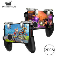 Data Frog 2 Pack Mobile Controller Trigger Game Fire Button Phone Joystick For PUBG For IPhone 7 8 Plus X For Xiaomi Android(China)