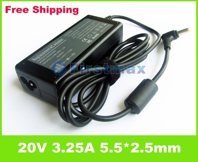 20V 3.25A 65W ac adapter Laptop charger  For Lenovo IdeaPad G575 G580 G770 G780 N580 N581 N585 N586 P500 P580 P585 notebook