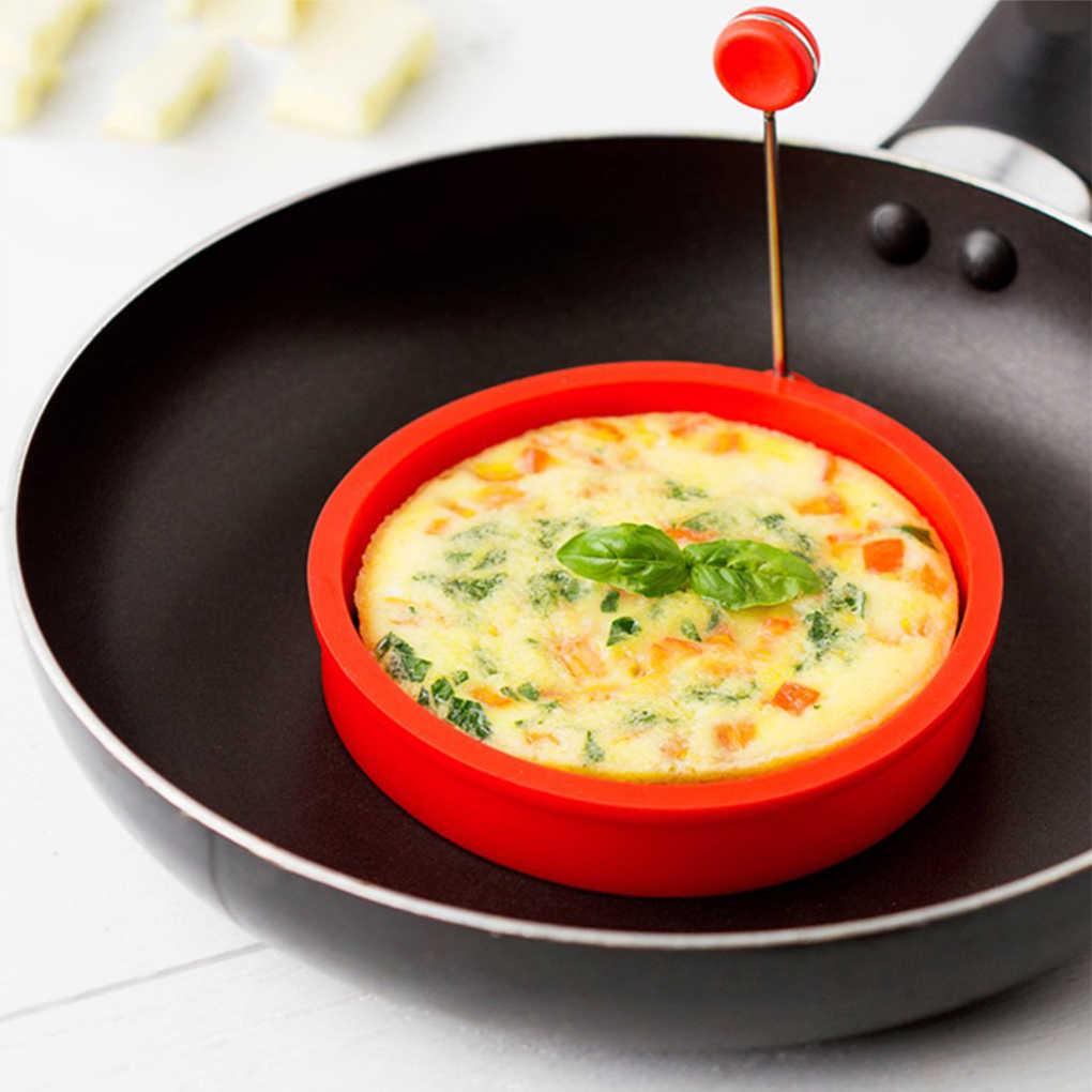 New Silicone Anel de Ovo Frito Pancake Omelete Frito Ovo Rodada Shaper Molde Ovos para Cozinhar Café Da Manhã