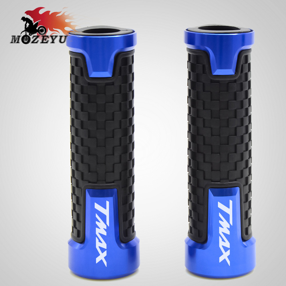Motorcycle handlebar grips CNC Handle Handlebar hand bar grip For YAMAHA TMAX T MAX 530 500 TMAX530 SX DX 2014 2015 2016 2018 in Grips from Automobiles Motorcycles