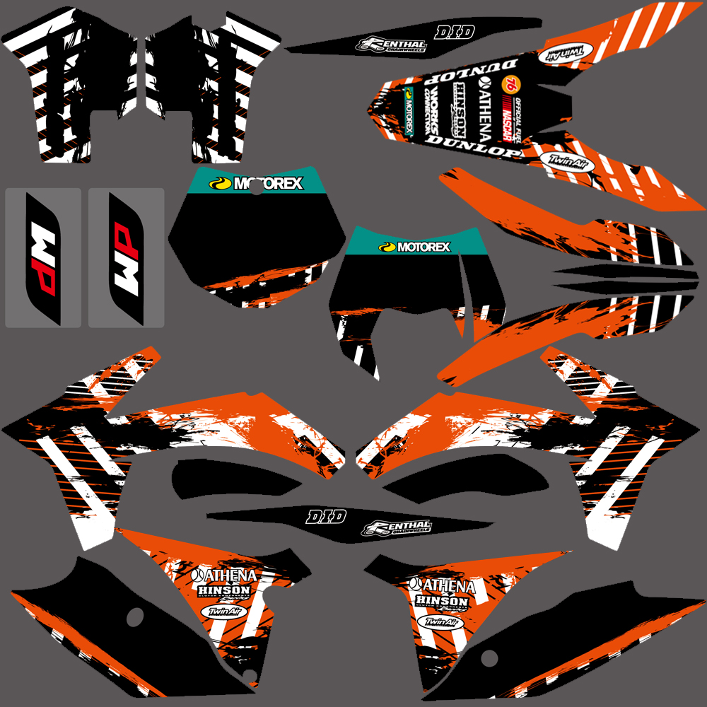 NICECNC Team Graphic Background Decals Sticker Kit For KTM 125 150 200 250 350 450 500 SX SXF XC XCW XCF XCFW EXC 2011 2012 2013