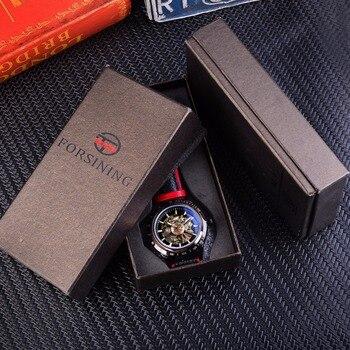 FORSINING Men's Transparent Design Genuine Waterproof Skeleton Automatic Watches 5