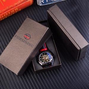 Image 5 - Forsining montre automatique pour hommes, conception de moto, ceinture noire authentique, étanche, squelette, marque de luxe, horloge mécanique