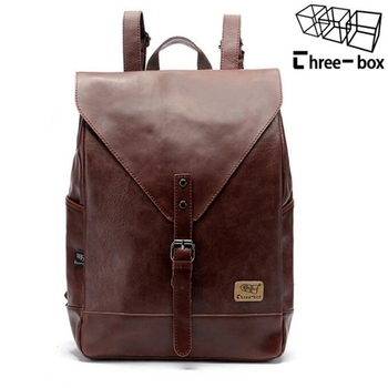 2018 Hot! Women fashion backpack male travel backpack mochilas school mens leather business bag large laptop shopping travel bag 1