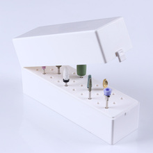 1 Pc 30 Holes Nail Drill Grinding Bit Holder Box Display Storage Container Stand Manicure Nail