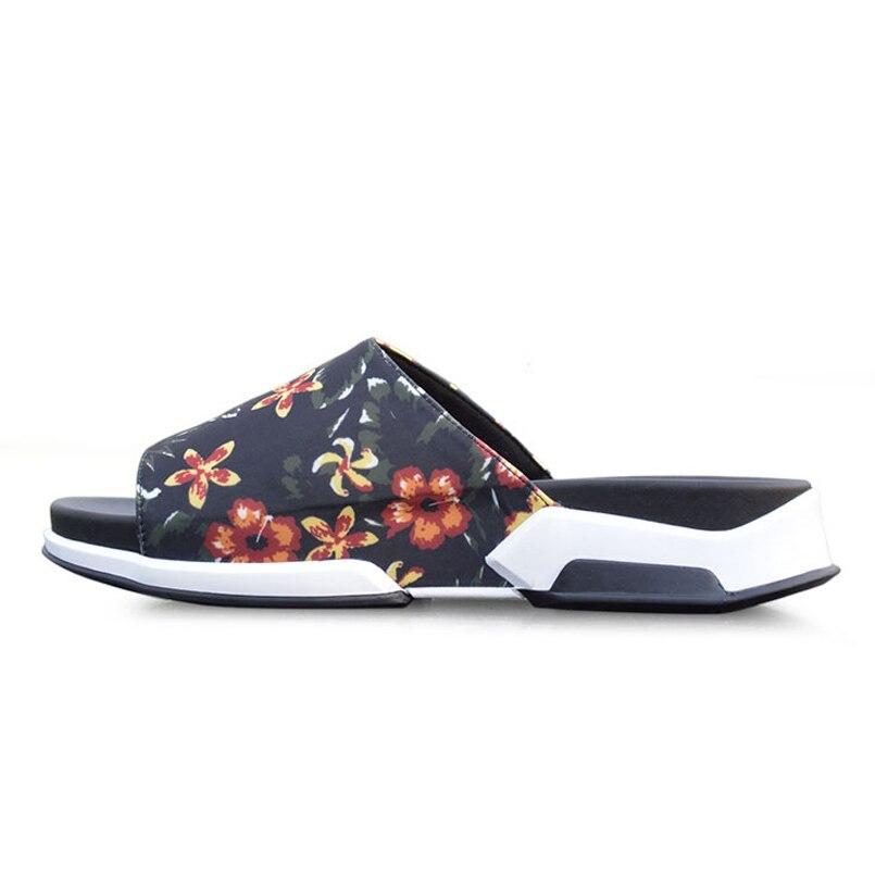 Slipperes Sapatos Pano Blue Da Flops Moda flowers De Masculino Verão Praia Impressão Aberto Confortáveis Do Flip Dos Dedo Pé Homens Tendência Sandálias rq5CrwxR