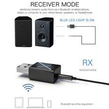 цена на Wireless Bluetooth Transmitter Receiver Stereo Audio Music Adapter With3.5mm Audio Cable For Home TV MP3 PC Car Speaker 10166