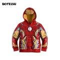 2016 Nuevos Vengadores, Iron Man Niños Hoodies del Muchacho Sudadera Capa de Spider-man Niños Chicos de Manga Larga Outwear niñas