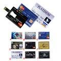 À prova d' água USB Flash Drive Pen Drive 4 GB 8 GB 16 GB 32 GB 64 GB Cartão de Crédito do banco Forma Memory Stick pendrive u disco cartão de memória flash