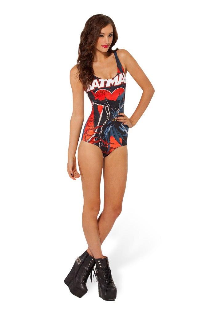 2016 New The Dark Knights Sexy Batman Swimsuit One Piece High Waist Swimwear I Am Batman Backless Biquini Ladies Swimsuit