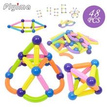Blocos de Construção de brinquedos magnéticos bolas 48 pcs magformers construção magnetico bolas magneet speelgoed brinquedo vara magnética ímã