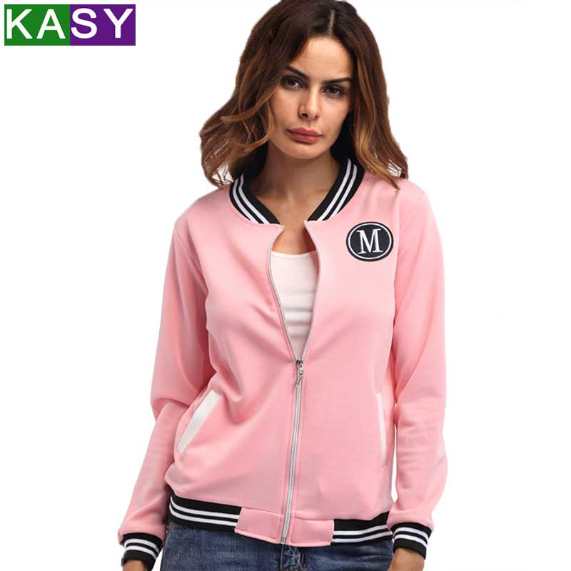 Women Spring Autumn Casual Zipper   Basic     Jacket   Fashion Long Sleeve Fitness Coats Outerwear Blusas Clothes Tops