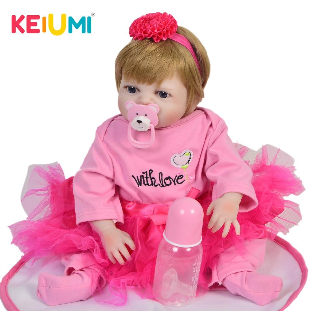 KEIUMI Hot Sale 19 48 cm Reborn Baby Doll Full Body Silicone Lifelike Fashion Baby Toy