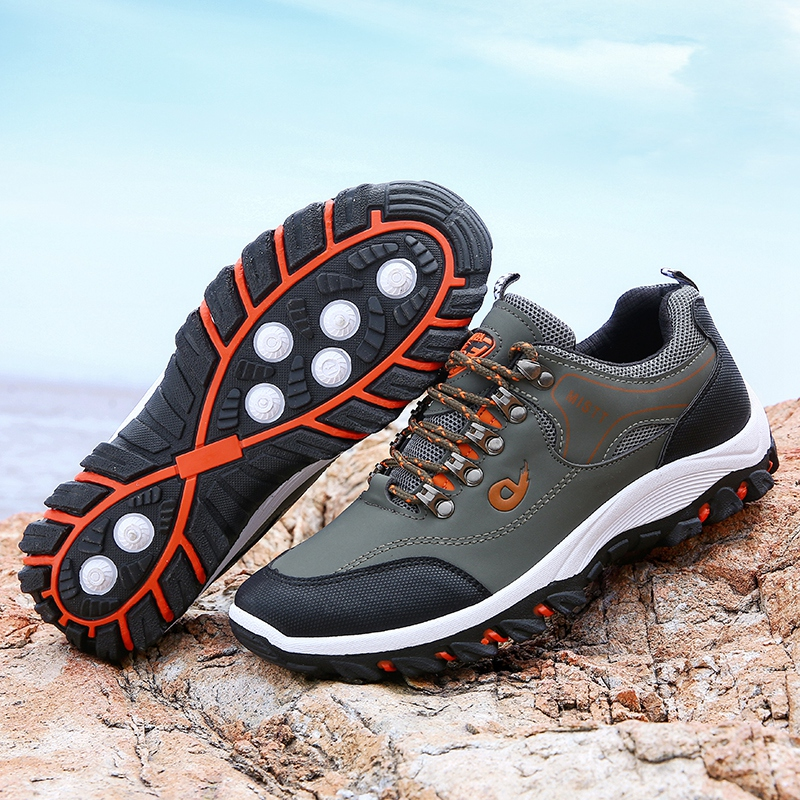 HUMTTO Men Climbing Shoes Non Slip Hiking Shoes For Men Waterproof Trekking Sneakers Man Fishing Camping Shoes Hunting Boots New