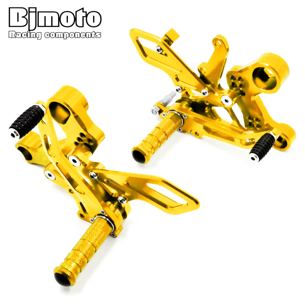 Bjmoto Motorcycle MT-09 FZ-09 Racing CNC Adjustable Footrest Rear Sets Foot pegs For Yamaha MT09 FZ09 2013 2014 2015 2016 2017