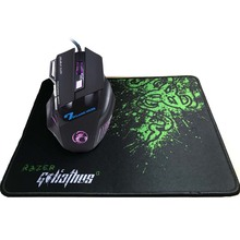 5500 DPI 7 Button Mouse Gamer Gaming Multi Color LED Optical USB Wired Gaming Mouse+Rakoon Large Gaming Mouse Pad for Pro Gamer