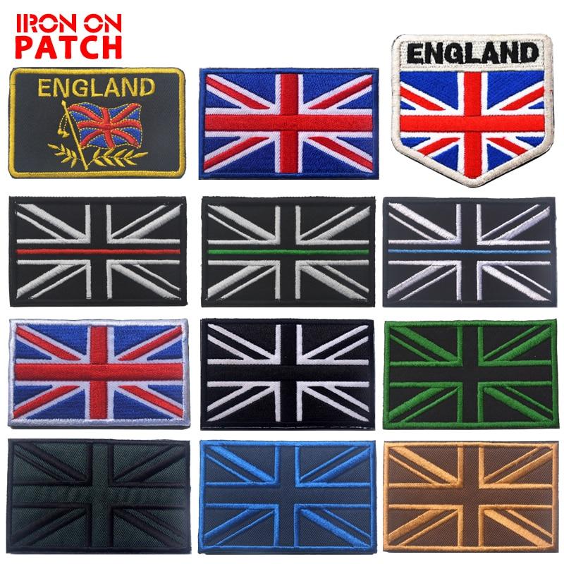 Union Jack Flag Patch UK GB England Embroidered Iron Sew On British Mod Britain