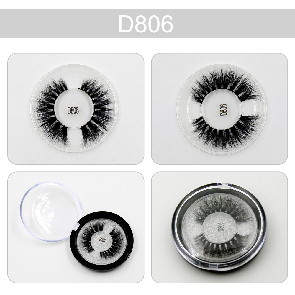 0fc881ab9fd Sexy 100% Handmade 3D mink eyelashes Thick Long Mink False Eyelashes  natural Fake Eye Lashes Eyelash makeup new packaging D806