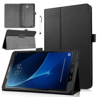 New Folding Litchi Pattern Artificial Leather Cover Case For Samsung Galaxy Tab E NOOK 9 6SM