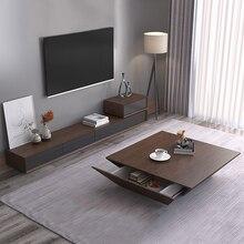 Чайный столик деревянный дизайн гостиная ТВ монитор Стенд mueble мраморный Кожаный шкаф с овальным краем+ тумба под телевизор+ журнальный столик