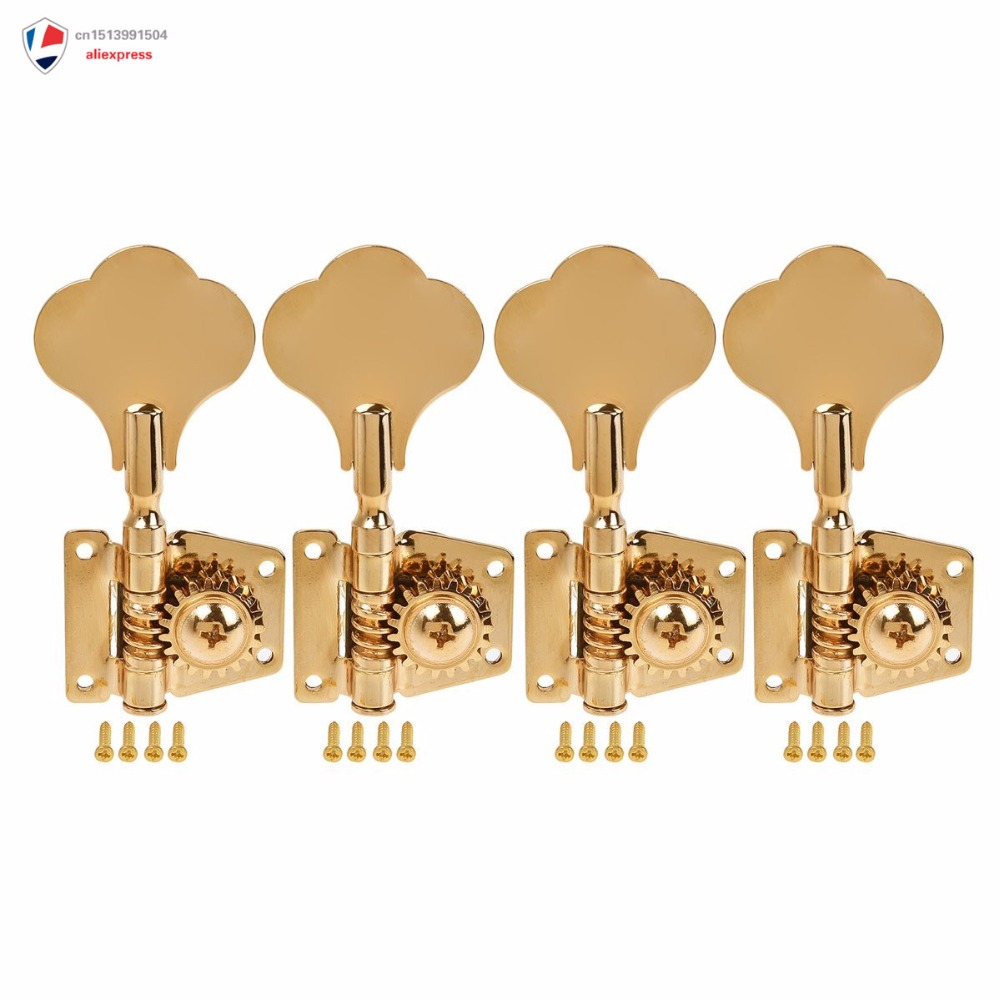 5 string bass electric guitar tuners tuning pegs keys machine heads open gear 4r1l gold 1 set in. Black Bedroom Furniture Sets. Home Design Ideas