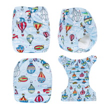 New Coming 1pcs Prefold Cloth Diaper With Microfiber Inserts Washable Baby Cloth Nappies
