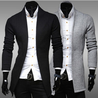 New Men's Simple Long Man Cardigan Slim V neck Casual Fashion Sweater Coat Knitting Mens Sweaters 3colour