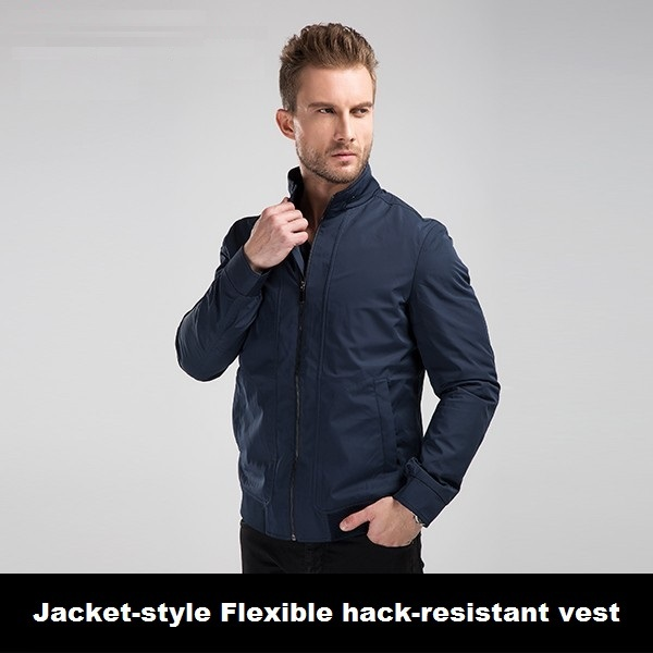 Novo Design de Moda Masculina Jaqueta Estilo Hack Colete Resistente Auto Defesa Pessoal Guarda De Segurança Equipamentos de Proteção Corte Resistente