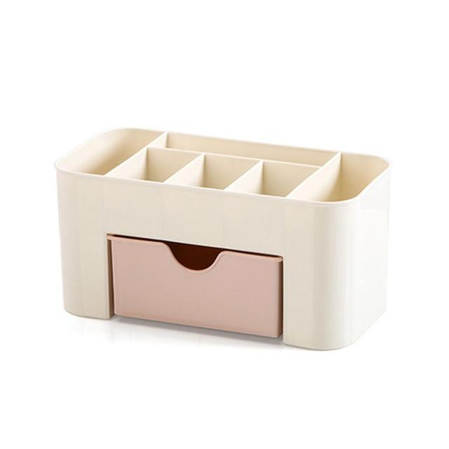 Mini Makeup Organizer Box Jewelry Necklace Nail Polish Earring Plastic Makeup Box Home Desktop Organizer For Cosmetics 4