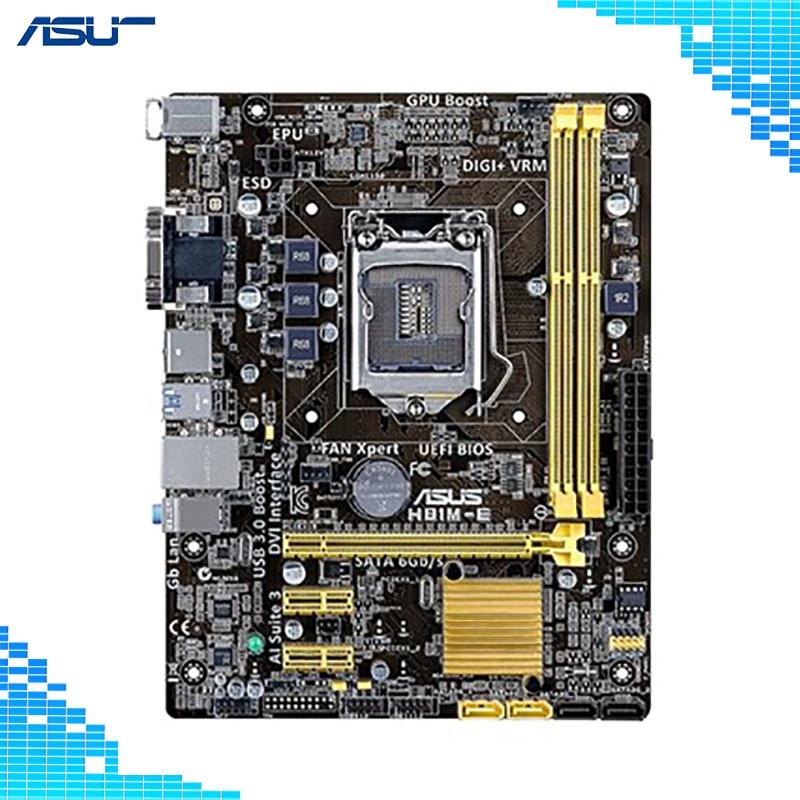 Asus H81M-E Desktop Motherboard Intel H81 Chipset LGA 1150 Socket Micro ATX board asus h110m k desktop motherboard intel h110 chipset socket lga 1151 micro atx