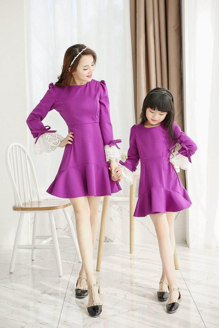 Lujo madre e hija vestidos vestidos a juego trajes de vestidos ...