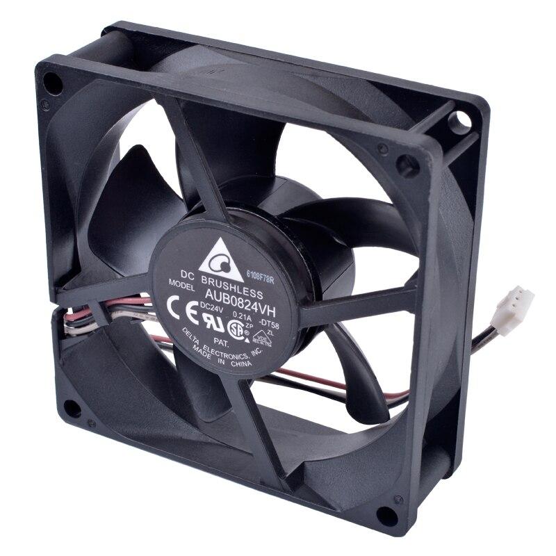 Original Delta AUB0824VH 8025 DC24V 8cm large amount of industrial control inverter cooling fan