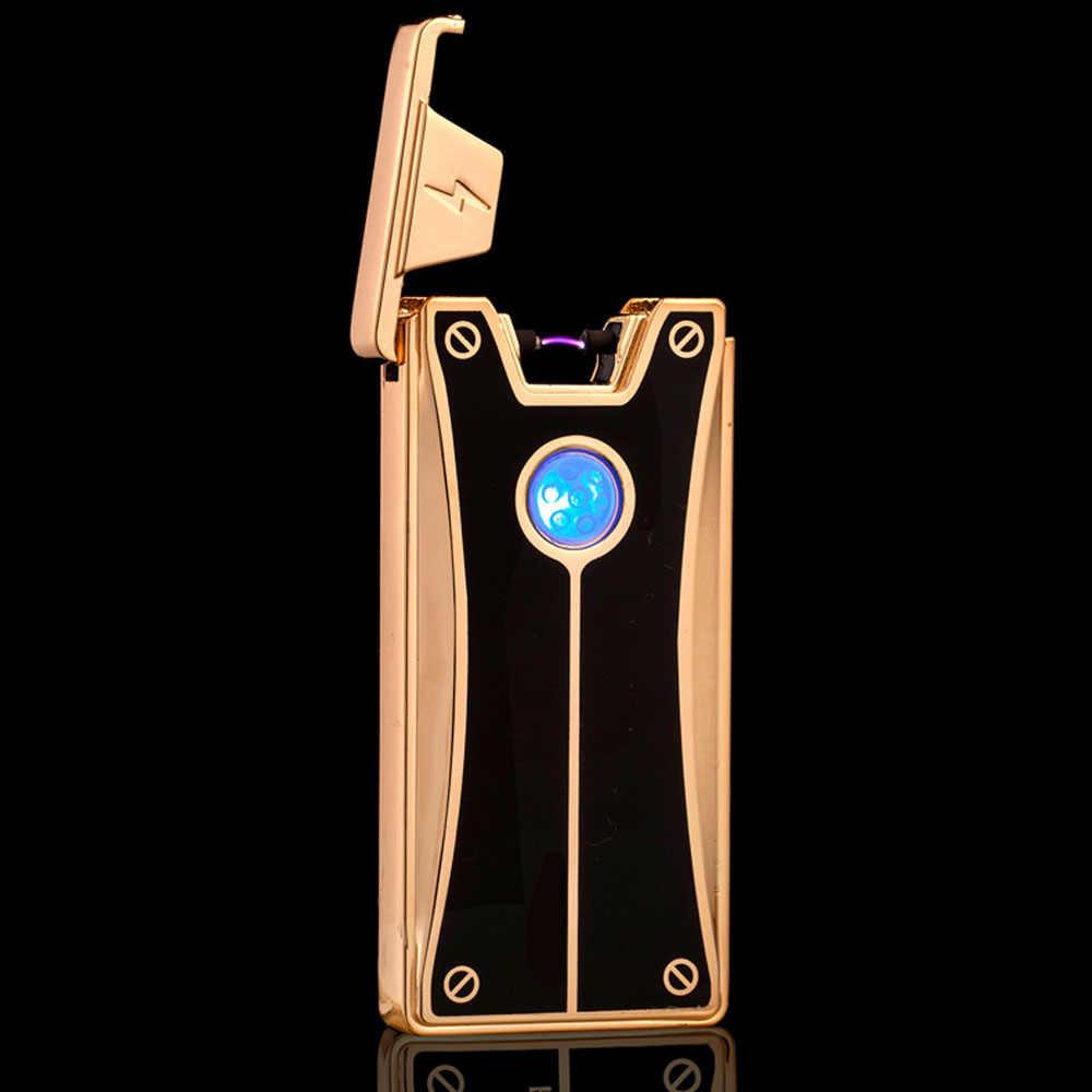 2018男性ギフトアークライターメタルusb充電式フレームレス電気アーク防風シガーシガーライター