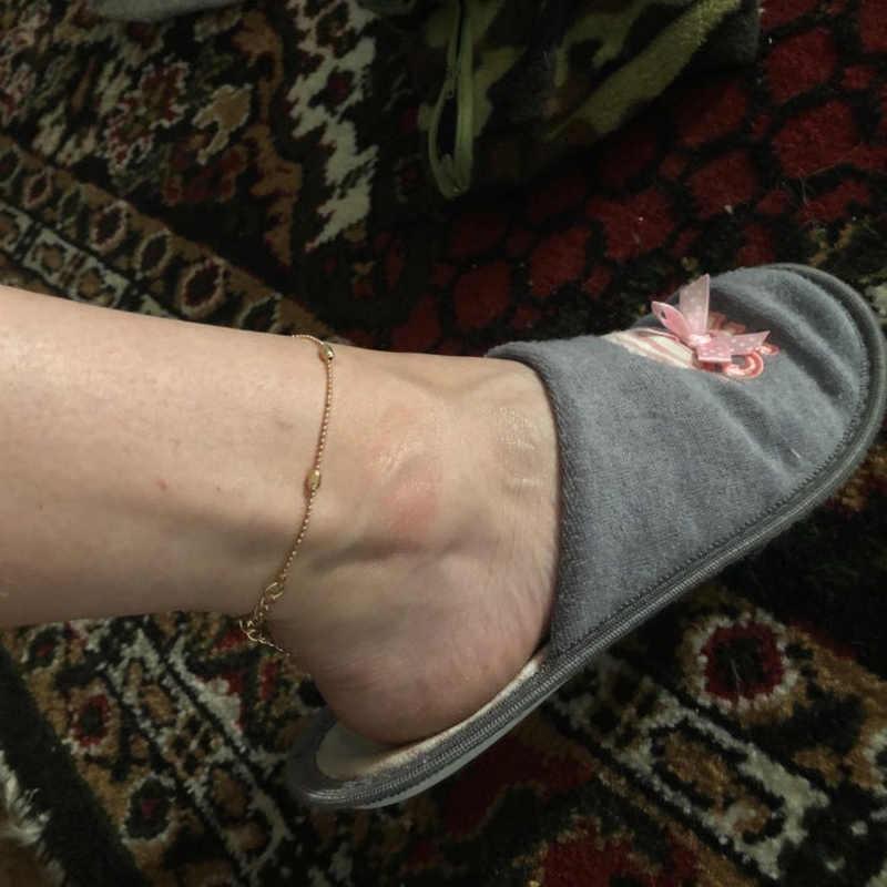 หัวใจสร้อยข้อเท้าสร้อยข้อเท้าถักโครเชต์รองเท้าแตะเท้ารองเท้าแตะเครื่องประดับขา CHAIN Anklets สำหรับผู้หญิง Halhal Tobilleras Pulsera Para Joyas