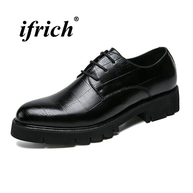 Man Dress Shoes Black Brown Men Social Shoes Spring Summer Formal Shoes for Man Rubber Bottom Comfortable Office Footwear
