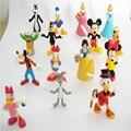 2015 nueva llegada, 10 unids/set 4.5-6 cm lindo Mickey figura de acción de bugs bunny, Anime Cartoon Clásico juguetes para los niños