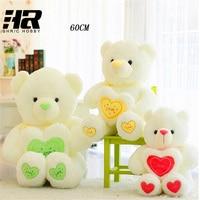 Free Shipping Totoro Lovely Stuffed Toys 60cm Kawaii Teddy Bear Plush Pillow With Heart Soft Plush
