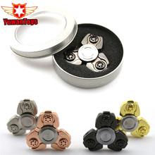 3-5 Minutes Fidget Spinner Toy Creative Tri-Spinner EDC Metal Hand Spinner For Autism And ADHD Stress Relieve Toy In Stock