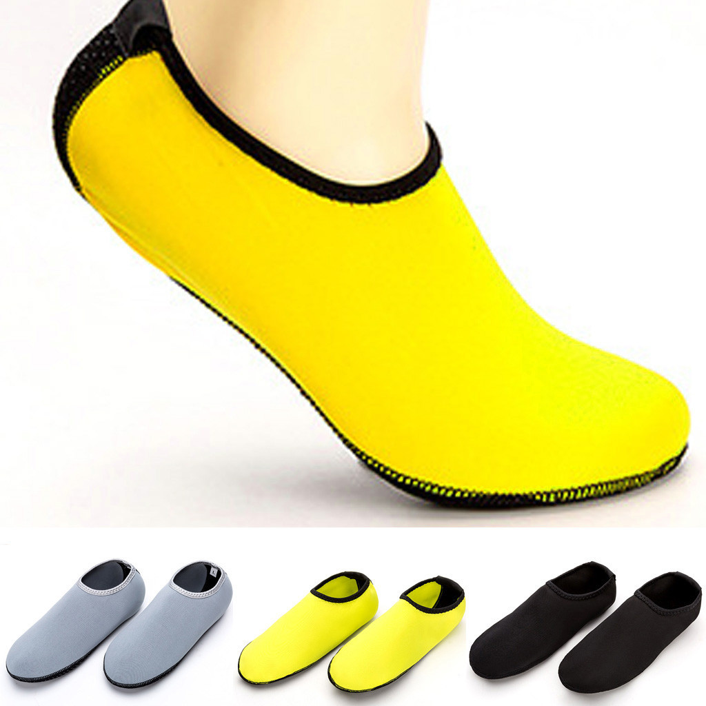 Summer Men's Casual Soft Shoes Solid Color Beach Shoes Swimming Diving Socks Drifting River Wading Shoes  Round Head Socks