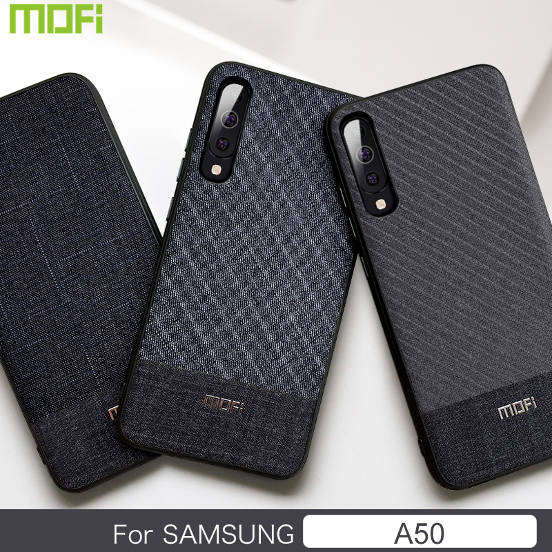 For <font><b>Samsung</b></font> <font><b>A50</b></font> Case For <font><b>Samsung</b></font> Galaxy <font><b>A50</b></font> Case <font><b>Cover</b></font> For <font><b>Samsung</b></font> A 50 Case Mofi Suit Cloth <font><b>Back</b></font> <font><b>Cover</b></font> Dark Business Fabrics image