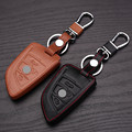 Free shipping leather car key case cover For bmw X5 X6 F15 bag key rings wallet for bmw keychain key shell