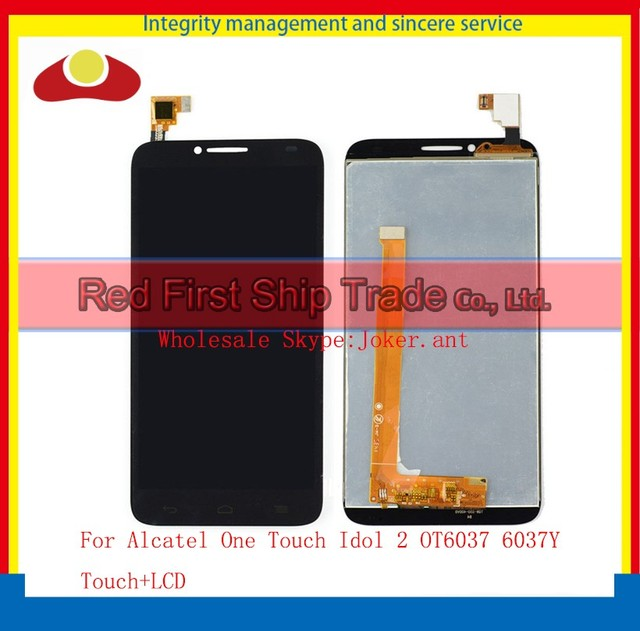 """High Quality 5.0"""" For Alcatel One Touch Idol 2 OT6037 6037 6037Y Lcd Display Touch Screen Digitizer Assembly Complete Sensor"""