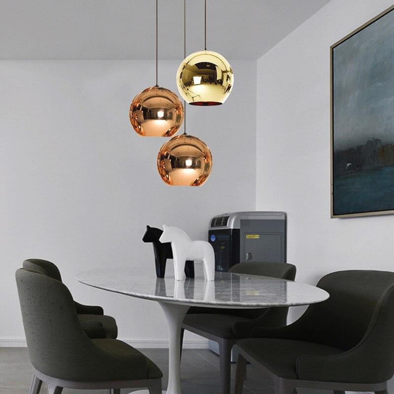 creativo led globo de la bola de cristal colgante luces colgantes lmpara de la decoracin saln dormitorio tienda de caf bar c