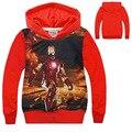 2016 venta Caliente Ropa de Niños Iron Man camisetas de los Hoodies Niños Terry Algodón Camisetas Y Tops Niños prendas de Vestir Exteriores de Los Niños del suéter de manga larga