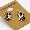 fashion jewelry accessories new design cute enamel puppy dog earrings for women