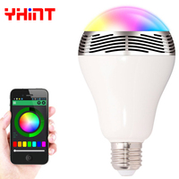 E27 Samrt RGBW Wireless Bluetooth Speaker Bulb Music Playing Dimmable Intelligent RGB Led Bulb Lamp With