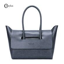 CUMYKA Luxury New Cow Leather Women Handbags Business Genuine Cowhide Dumplings Tote Ladies Classic Shoulder Bags 2019 Big Hobos