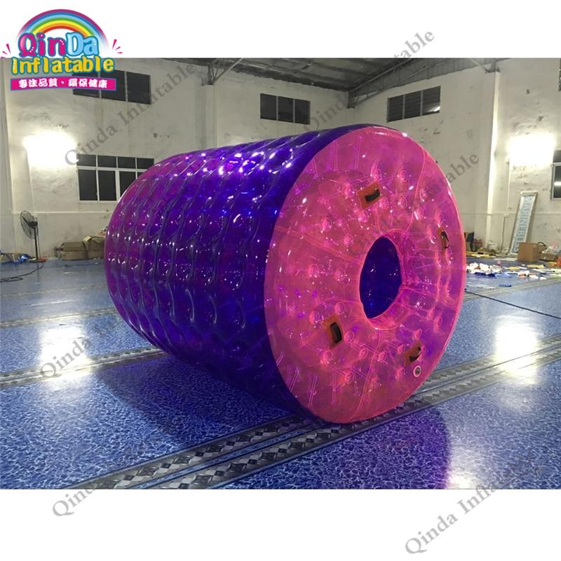 Rueda de agua inflable de encargo promocional, bola de rodillo inflable del agua de la piscina en venta
