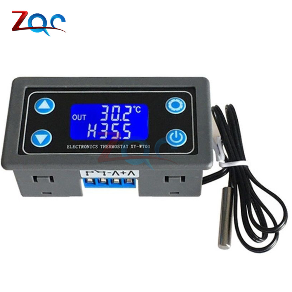 10A Thermostat Digital Temperature Controller DC 6V-30V Thermal Regulator Thermocouple Thermostat LCD Display Sensor 12V 24V10A Thermostat Digital Temperature Controller DC 6V-30V Thermal Regulator Thermocouple Thermostat LCD Display Sensor 12V 24V