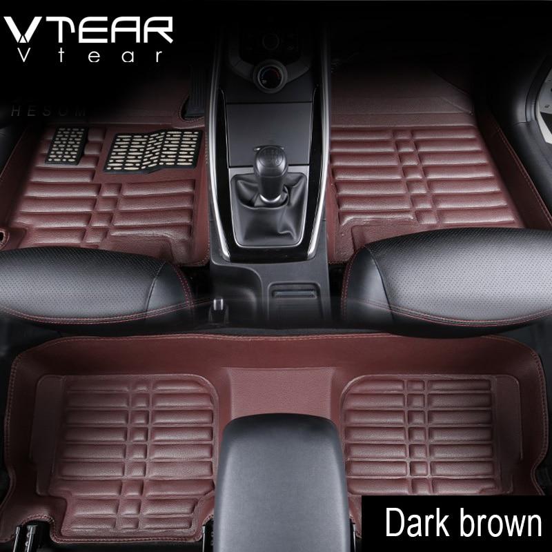 Vtear For Creta Hyundai ix25 Car Floor Mats interior leather pad waterproof durable rugs car-styling products creta accessory коврики в салонные ниши синие ix25 для hyundai creta 2016
